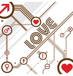 love design background vector image vector image