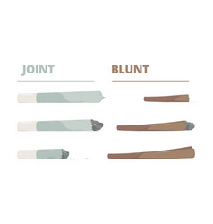 marijuana joint drugs cigarette smoke cannabis vector image