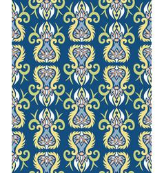 Modern art nouveau style elements blue pattern vector