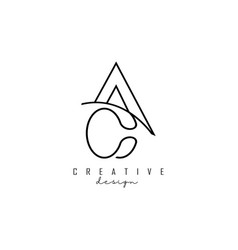 Monogram ac a c letters logo design with wire vector