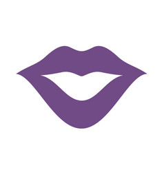 Mouth or lips icon design flat vector