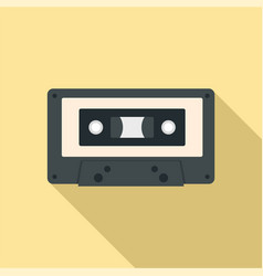 music casette icon flat style vector image