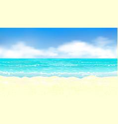 ocean and sandy beach 1 vector image