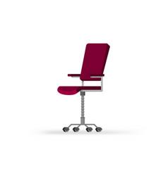Office chair cartoon flat style vector