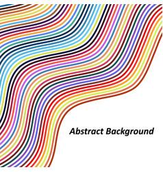 Optical art background colorful wave design vector