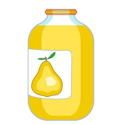 Pear juice icon vector