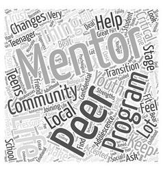 Peer mentoring Word Cloud Concept vector
