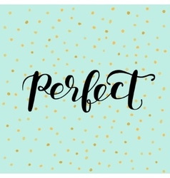Perfect brush lettering vector