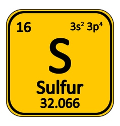 Periodic table element surfur icon vector