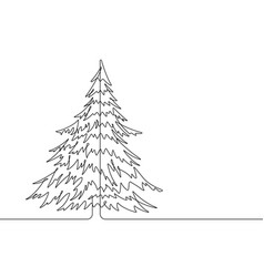 pine tree continuous line graphic vector image