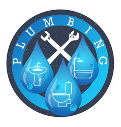 Plumbing and running water vector