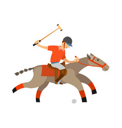 polo player accuracy and precision playing man vector image