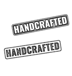 Realistic Handcrafted grunge rubber stamps vector image