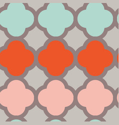 red and coral diamonds on pink background seamless vector image