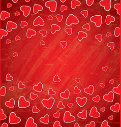 Red paper hearts with copy space vector