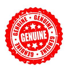 Round stamp genuine vector