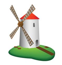 Rural mill vector