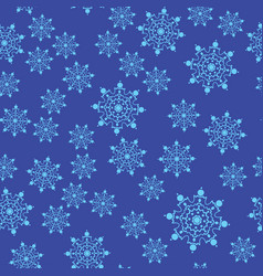 seamless set of stylized snowflakes on blue vector image