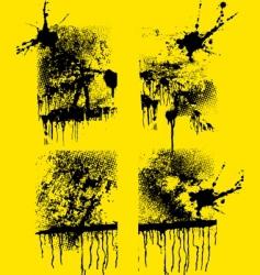 set grunge creative textures vector image