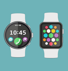 smart watch flat design vector image