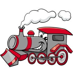 steam engine cartoon character vector image