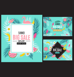 Summer sale abstract banner background collection vector