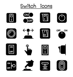 Switch icon set vector