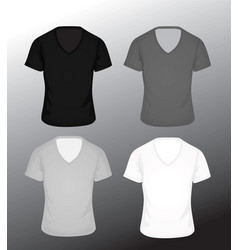 T shirt v neck in four colors vector
