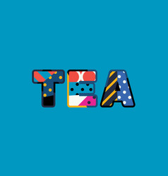 tea concept word art vector image