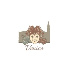 Template composition of venice symbols vector