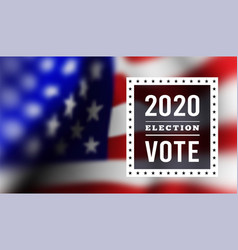 usa presidental election 2020 vector image