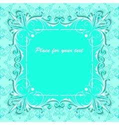 vintage square paper frame vector image