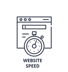 website speed line icon concept website speed vector image