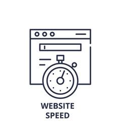 Website speed line icon concept website speed vector