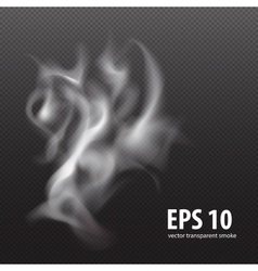White smoke on transparent black background vector