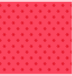 Winter snowflakes red background vector