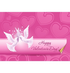 background on valentines day vector image vector image