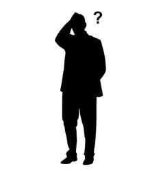 businessman having problems vector image vector image
