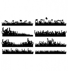 Crowd Silhouettes vector image vector image