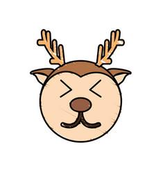 Cute deer drawing animal vector
