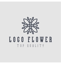 Logo abstract flower flat style vector image vector image