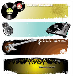 Music Banners vector image vector image