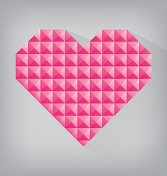 pink retro heart triangle abstract love valentine vector image vector image