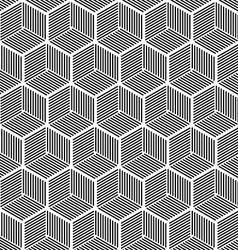 Seamless hexagonal line cube pattern vector image vector image