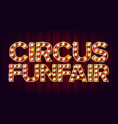 circus funfair banner sign for party vector image vector image