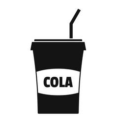 juice icon simple black style vector image