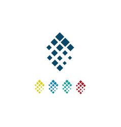 square pixel logo vector image