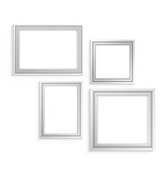 white frames set vector image