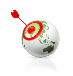 World target icon vector image vector image