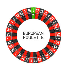 european roulette wheel vector image